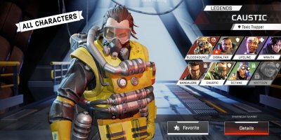 All characters in apex legends mobile