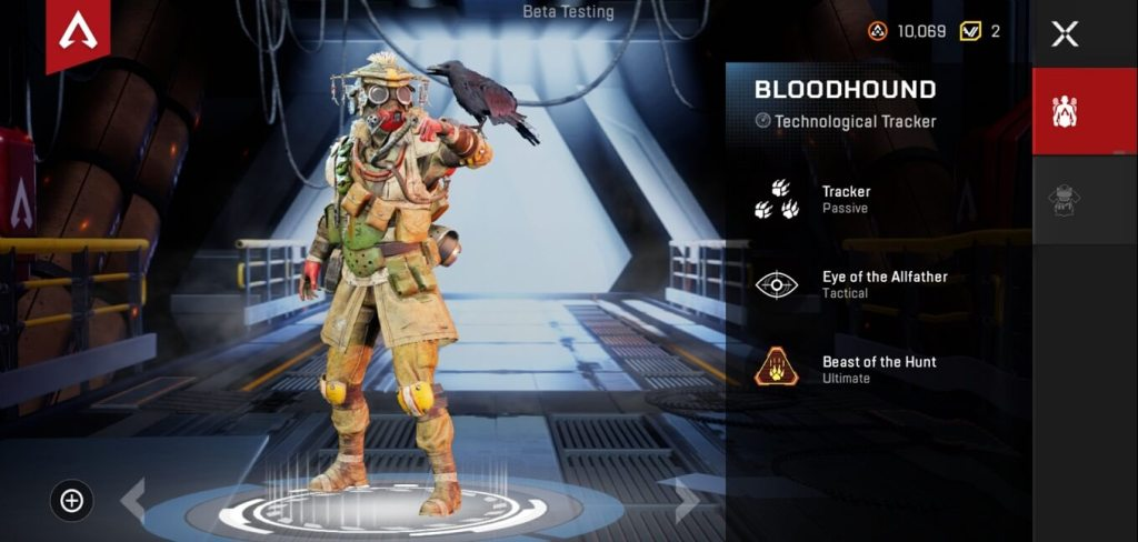 Bloodhound character apex legends mobile